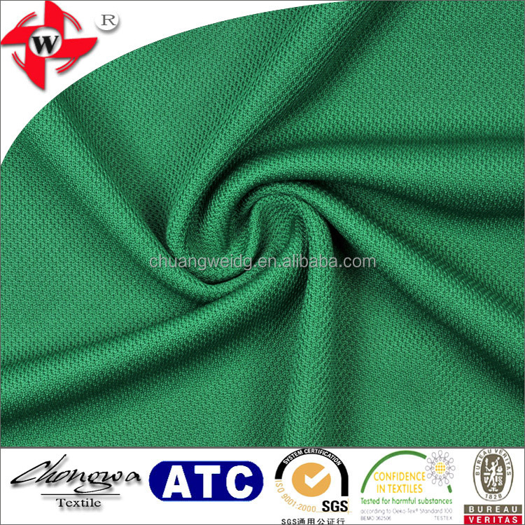 Chuangwei Textile 100 polyester quick dry sport knit pique fabric for athletic wear