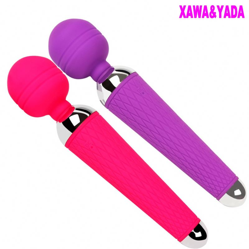 Hot Selling Sex toys OEM Rechargeable Personal Body Massager,10 Mode Vibrating Magic Wand Massager