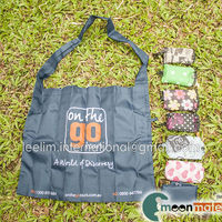 foldable drawstring bag with small pouch shopping bag goodie bag