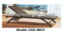 Outdoor Natural Rattan Chaise Lounge Outdoor Furniture Unique Design Comfortable for Body