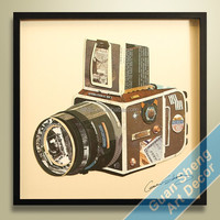 canvas image oil paintings/ decoration canvas art prints/ 3d shadow box wall arts