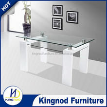 New Zealand 4/6 seater modern glass dining table / white / black high gloss dining table /wood dining table