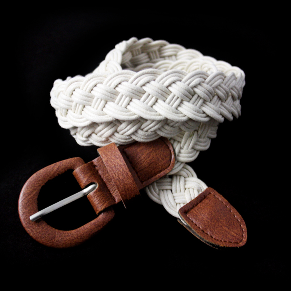 Trousers decoration casual braided wax cord belt bungee cord belt for jeans BK-YD515
