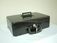 EXTRA LARGE DUAL HANDLE CYLINDER LOCK PORTABLE METAL CASH BOX SAFE