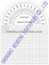 KEARING,MILITARY PROTRACTOR GRIDED TEMPLATE WITH PROTRACTOR,MAP MARKING TEMPLATE, #KMP-10