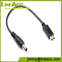 Linkacc-U31 5.5 2.5mm DC to usb 3.1 type c Power Plug Short Cable