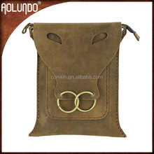 Leather bags customized fashion messenger book bags