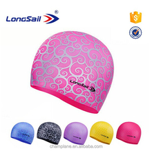 Customized adult or kids silicone swim cap