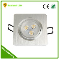 High quality AC85-265V square led ceil lamp,led recessed ceiling light