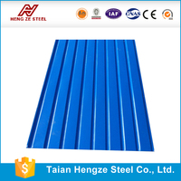 china supplier 28 gauge curve zinc/aluzinc corrugated steel sheet price