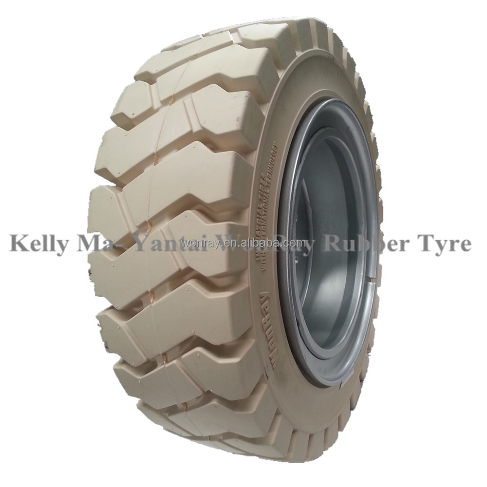 New Design Non Marking White Industrial Solid Forklift Tires 8.25x15 For Sale