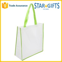 Promotional non woven coloured strap shopping tote bag