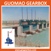 Heavy duty mechanical with hand wheel manual worm gear screw lift for sluice gate