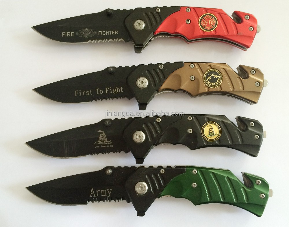 2015 New Pattern Handle Hunting Survival Folding Safety Cutter <strong>knife</strong>