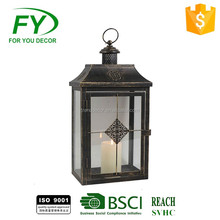 Gifts & Decor Contemporary Table Top Metal Candle Holder cemetery lantern