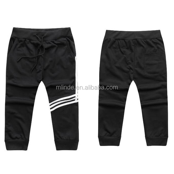 Stylish wholesale plain black Casual Skinny Jogging Harem Pants for men