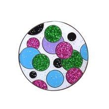 High quality metal colorful rhinestones golf ball marker