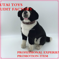 black and white stuffed plush dogs toys