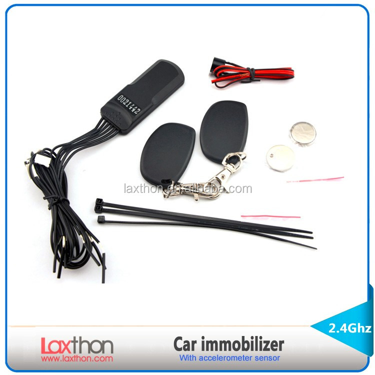 CE Anti hijacking 2.4G car RFID immobilizer system with motion sensor