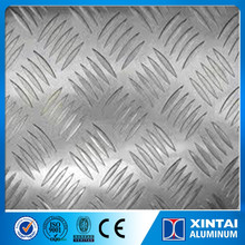 Alloy5052 tread plate aluminum 5 bar plate for truck body and bus floor using