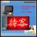 LED taxi sign board message display
