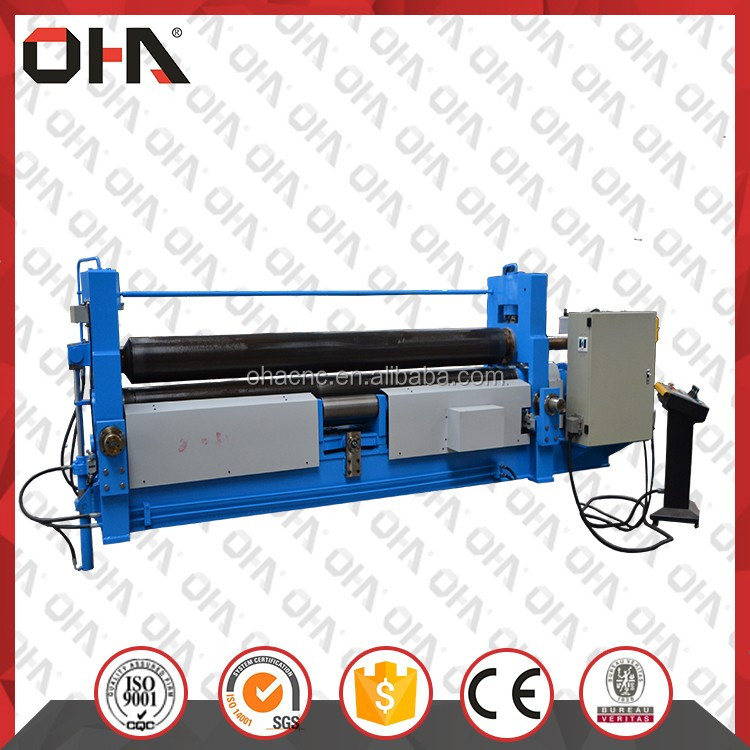 OHA <strong>W11S</strong>-35x3000 NEW INDUSTRIAL STEEL PLATE ROLLING MACHINE PRICE WITH THREE <strong>ROLLERS</strong>