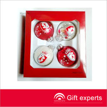 Cheap popular christmas balls with brand name