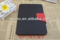 High-end credit card slot smart cover case for ipad mini 2