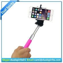 Cable Take Pole Selfie Stick , Wired Monopod Selfie Stick , Wired Selfie Monopod With High Quality