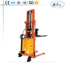 suited for food and beverage manufacturing Semi-Electric Pallet Stacker
