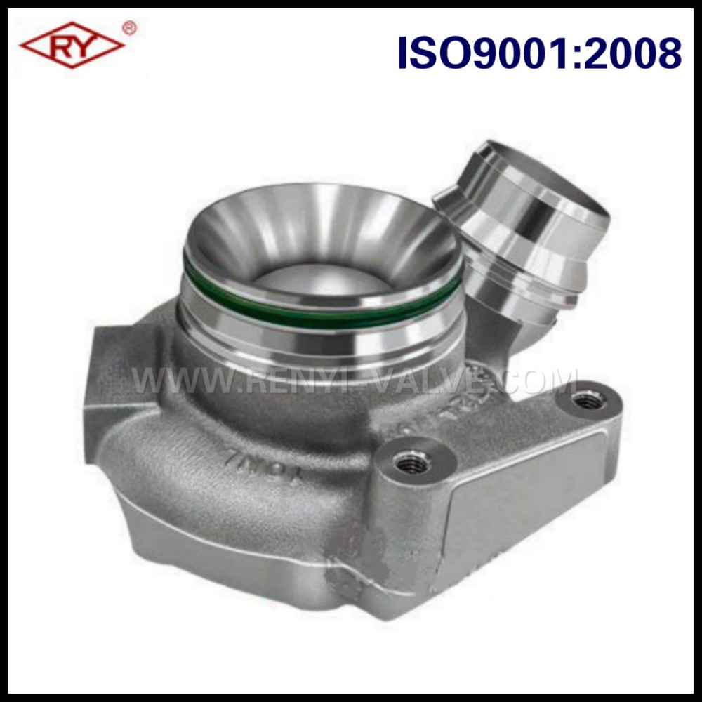Investment cast steel turbo compressor housing