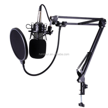 BM-800 High Quality Studio Microphone Set:Mic+Mic Shock Mount+Anti-wind Cap+Mic Power Cable for Recording KTV Karaoke