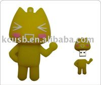 Lovely cat Poromotional gift pvc usb flash memory, usb flash drives ,2gb usb flash stick