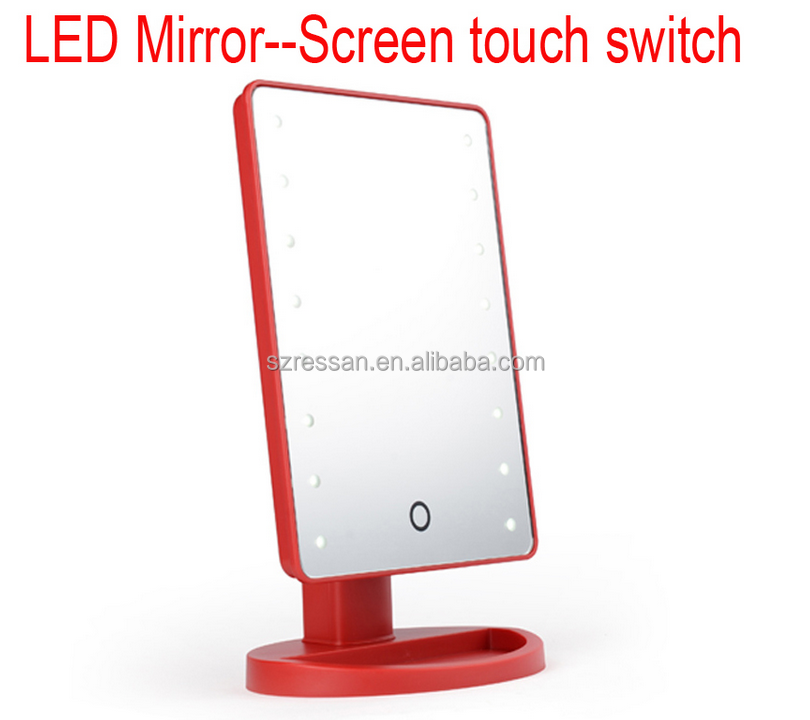 hot sale USB powered make up LED mirror/ lighting mirror 16led lights