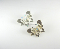 Butterfly rhinestone hair claw jaw clip,fashion women custom shape hair grip accessory ornament
