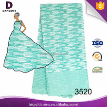 2016 Dangote embroided swiss voile lace mint green swiss lace fabric in switzerland african 3520