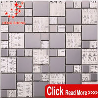 Modern Style design irregular stainless steel waterproof tiles front wall for hotel project