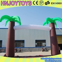 inflatable coconut tree arch /inflatable christmas decorations arch
