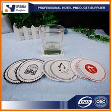 2017 Custom disposable absorbent hotel paper coasters for drinks