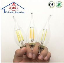 Best price Edision E14 LED Bulb C35C35L 2W-4W-6W filament high power candle lamp for pendant
