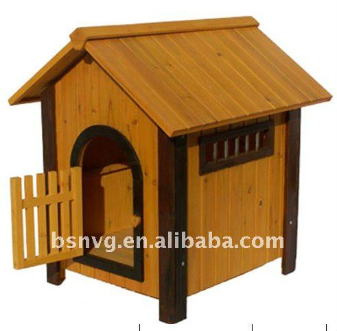 Wooden Fashion Dog House With Door
