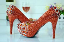 C71869A Sexy Red Wedding High Heel Shoes