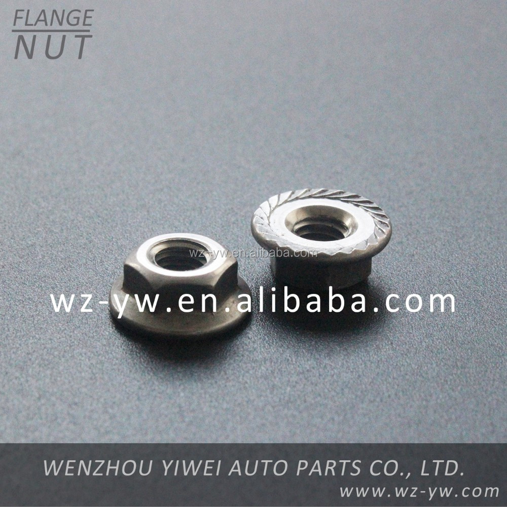high quality steel flange nut auto accessories for car
