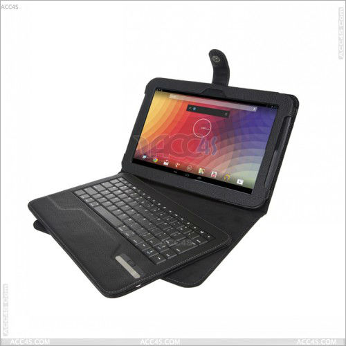 flip leather case with bluetooth keyboard for google nexus 7 ii for Google Nexus 10 P-GGNEXUS10CASE001