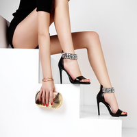 L006 Silver And Gold Ankle Strap