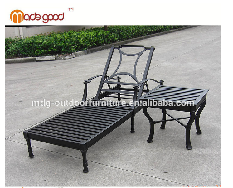 aluminum Material and cheap garden Sun Lounger Specific Use garden chairs dining room and Outdoor Chaise Lounge