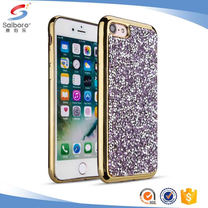 Hot sale 2017 crystal diamond phone case for iphone 7