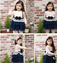 Online Shopping Child Clothes Fashion Halloween Smocked Girls Dress