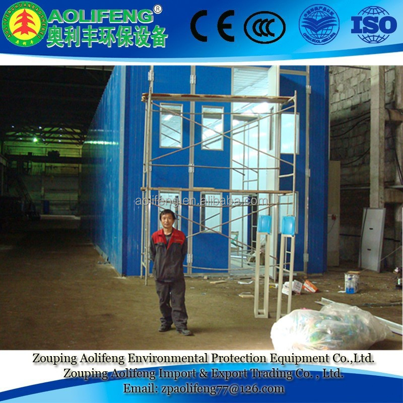 Environmental Large size industrial Spray Paint Booth for Metal Workpiece