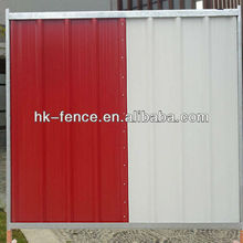 35mm x 40mm x 35mm Cross channel Construction Site Temporary Hoarding Fence Panel with 38mm frame pipe